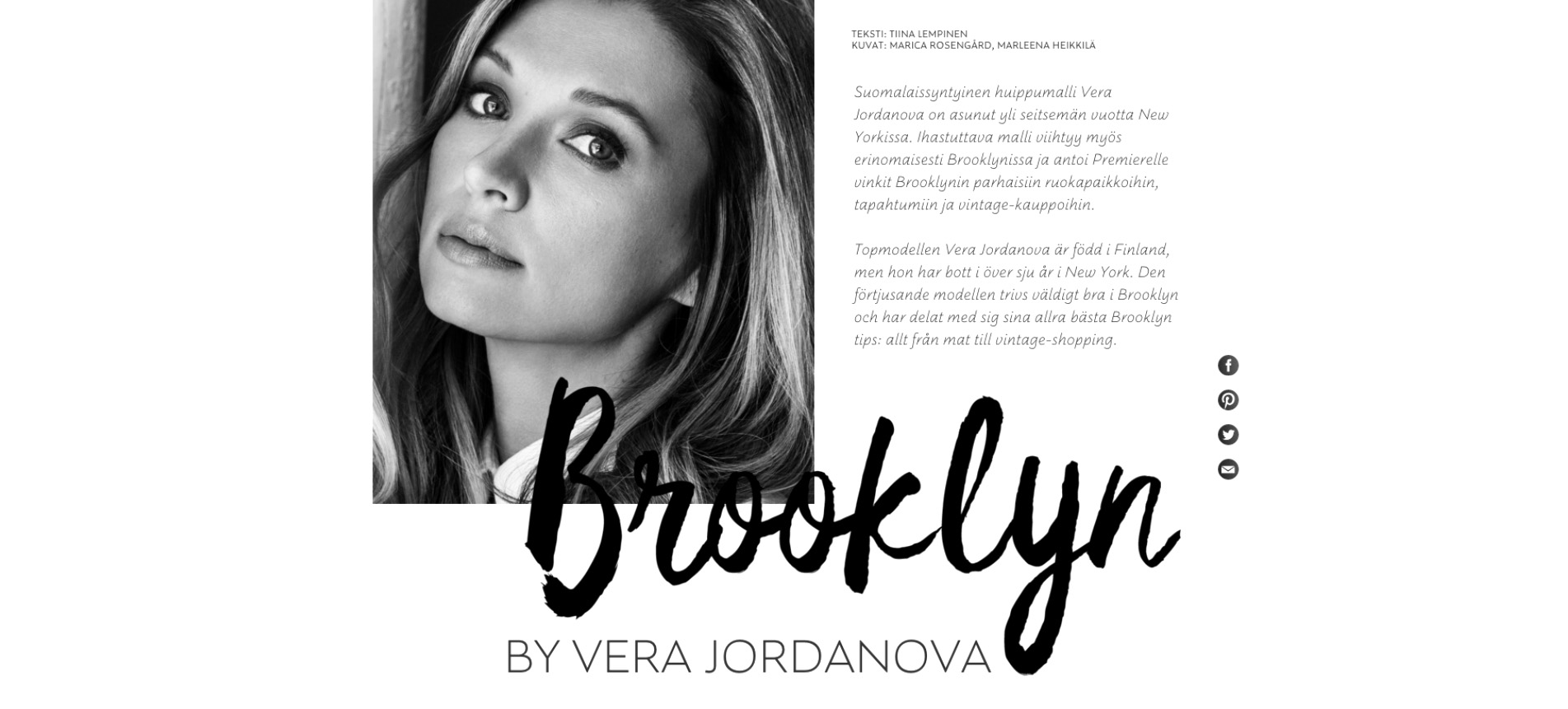 Brooklyn by Vera Jordanova